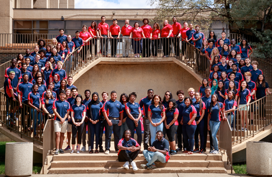 group of student staff