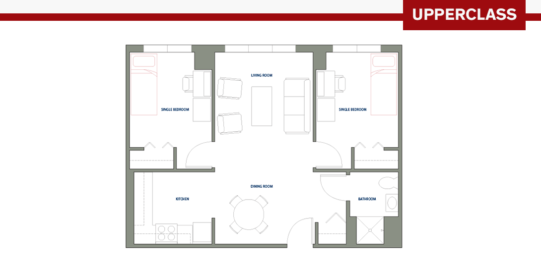 Two-Person Apartment Floor Plan