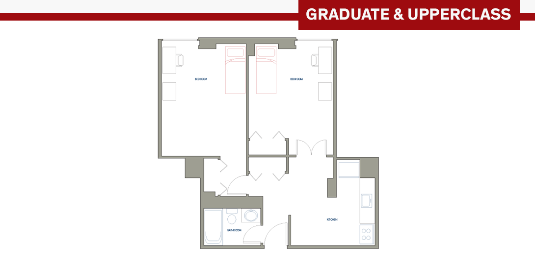 SSR 2-person Apartment Floor Plan