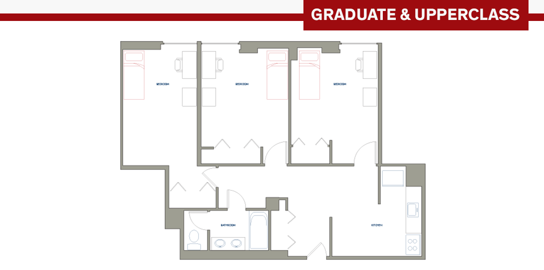 SSR 3-person Apartment Floor Plan