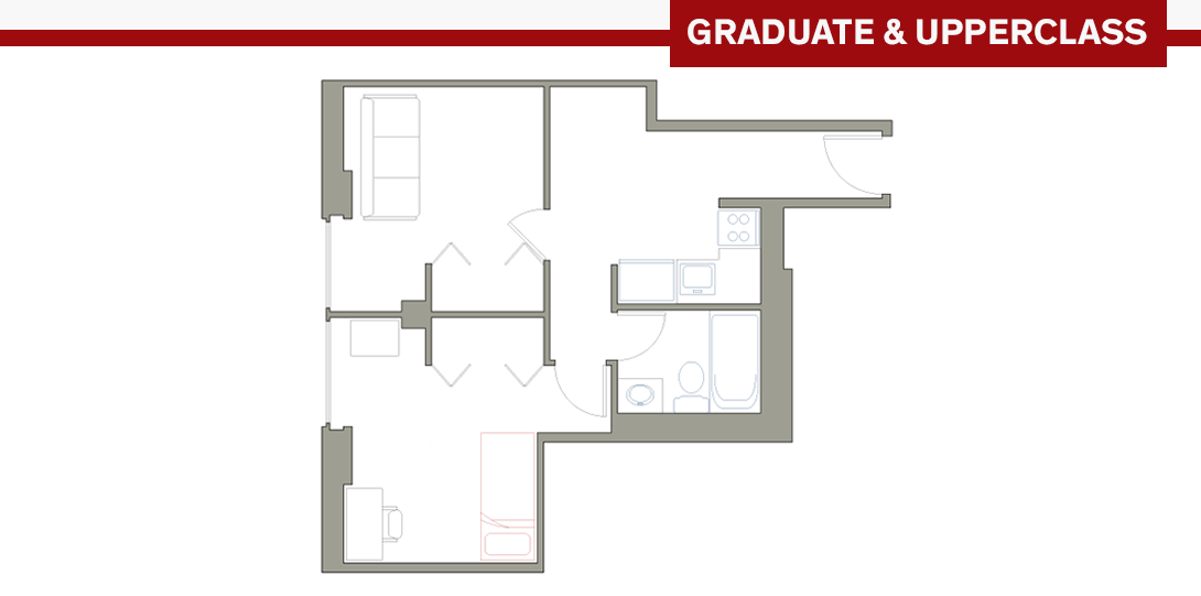 SSR Studio Apartment Floor Plan